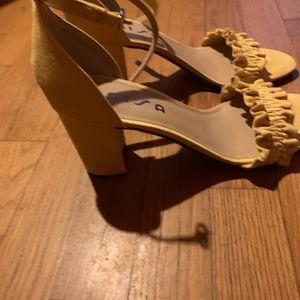 Playful summer yellow heels.